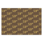 [ Thumbnail: Brown, Faux Gold 59th (Fifty-Ninth) Event Tissue Paper ]