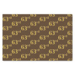 [ Thumbnail: Brown, Faux Gold 63rd (Sixty-Third) Event Tissue Paper ]