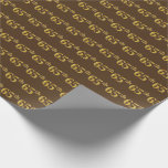 [ Thumbnail: Brown, Faux Gold 65th (Sixty-Fifth) Event Wrapping Paper ]