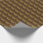 [ Thumbnail: Brown, Faux Gold 66th (Sixty-Sixth) Event Wrapping Paper ]