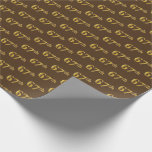 [ Thumbnail: Brown, Faux Gold 67th (Sixty-Seventh) Event Wrapping Paper ]