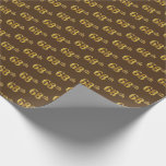 [ Thumbnail: Brown, Faux Gold 68th (Sixty-Eighth) Event Wrapping Paper ]