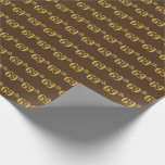 [ Thumbnail: Brown, Faux Gold 69th (Sixty-Ninth) Event Wrapping Paper ]