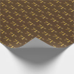 [ Thumbnail: Brown, Faux Gold 71st (Seventy-First) Event Wrapping Paper ]
