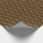[ Thumbnail: Brown, Faux Gold 72nd (Seventy-Second) Event Wrapping Paper ]