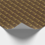 [ Thumbnail: Brown, Faux Gold 73rd (Seventy-Third) Event Wrapping Paper ]