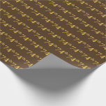 [ Thumbnail: Brown, Faux Gold 74th (Seventy-Fourth) Event Wrapping Paper ]