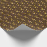 [ Thumbnail: Brown, Faux Gold 76th (Seventy-Sixth) Event Wrapping Paper ]