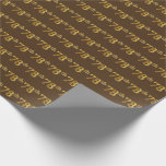 [ Thumbnail: Brown, Faux Gold 78th (Seventy-Eighth) Event Wrapping Paper ]