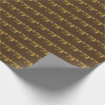 [ Thumbnail: Brown, Faux Gold 79th (Seventy-Ninth) Event Wrapping Paper ]