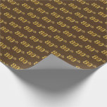[ Thumbnail: Brown, Faux Gold 80th (Eightieth) Event Wrapping Paper ]