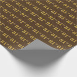 [ Thumbnail: Brown, Faux Gold 81st (Eighty-First) Event Wrapping Paper ]