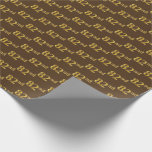 [ Thumbnail: Brown, Faux Gold 82nd (Eighty-Second) Event Wrapping Paper ]