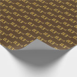 [ Thumbnail: Brown, Faux Gold 83rd (Eighty-Third) Event Wrapping Paper ]