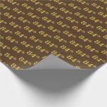 [ Thumbnail: Brown, Faux Gold 84th (Eighty-Fourth) Event Wrapping Paper ]