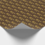[ Thumbnail: Brown, Faux Gold 85th (Eighty-Fifth) Event Wrapping Paper ]
