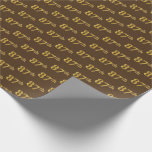 [ Thumbnail: Brown, Faux Gold 87th (Eighty-Seventh) Event Wrapping Paper ]