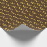 [ Thumbnail: Brown, Faux Gold 89th (Eighty-Ninth) Event Wrapping Paper ]