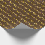 [ Thumbnail: Brown, Faux Gold 90th (Ninetieth) Event Wrapping Paper ]