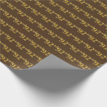 [ Thumbnail: Brown, Faux Gold 92nd (Ninety-Second) Event Wrapping Paper ]