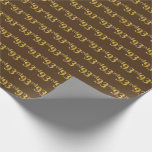 [ Thumbnail: Brown, Faux Gold 93rd (Ninety-Third) Event Wrapping Paper ]