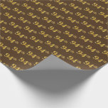 [ Thumbnail: Brown, Faux Gold 94th (Ninety-Fourth) Event Wrapping Paper ]