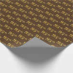 [ Thumbnail: Brown, Faux Gold 95th (Ninety-Fifth) Event Wrapping Paper ]