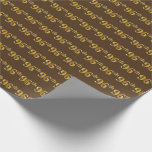 [ Thumbnail: Brown, Faux Gold 96th (Ninety-Sixth) Event Wrapping Paper ]