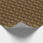 [ Thumbnail: Brown, Faux Gold 97th (Ninety-Seventh) Event Wrapping Paper ]
