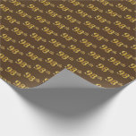 [ Thumbnail: Brown, Faux Gold 98th (Ninety-Eighth) Event Wrapping Paper ]