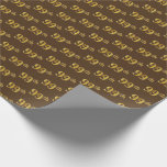 [ Thumbnail: Brown, Faux Gold 99th (Ninety-Ninth) Event Wrapping Paper ]