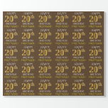 """[ Thumbnail: Brown, Faux Gold """"Happy 20th Birthday"""" Wrapping Paper ]"""