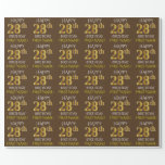 """[ Thumbnail: Brown, Faux Gold """"Happy 28th Birthday"""" Wrapping Paper ]"""