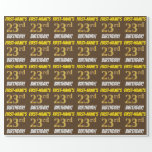 """[ Thumbnail: Brown, Faux/Imitation Gold, """"23rd Birthday"""" Wrapping Paper ]"""