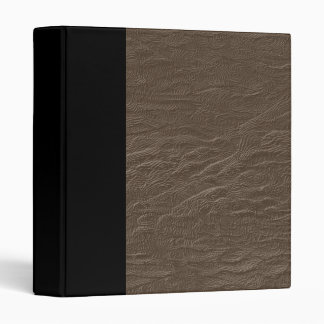 Brown Faux Leather Binder