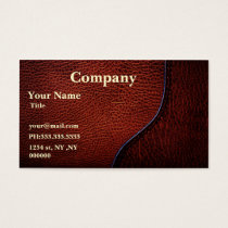 brown faux leather Business Cards