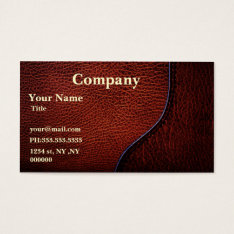 Brown Faux Leather Business Cards at Zazzle