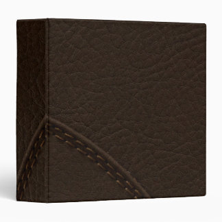 Brown Faux Leather Upholstery 3 Ring Binders