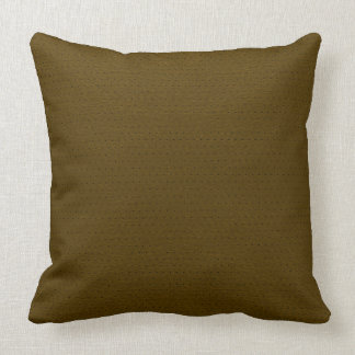 Brown Faux Leather Vintage Look Throw Pillow