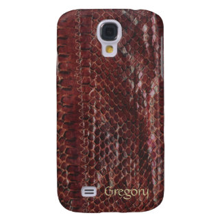 Brown Faux Snakeskin Samsung Galaxy S4 Cases