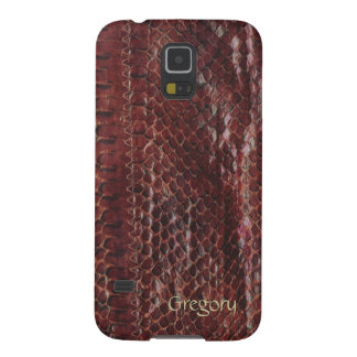 Brown Faux Snakeskin Samsung Galaxy S5 Cases