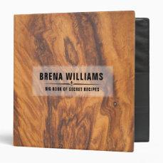 Brown Faux Wood Texture Binder
