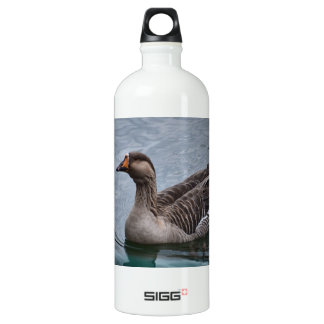 Brown Feathered Goose Aluminum Water Bottle