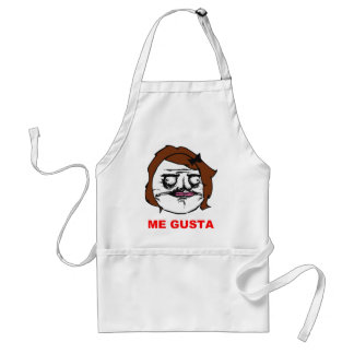 Brown Female Me Gusta Comic Rage Face Meme Adult Apron
