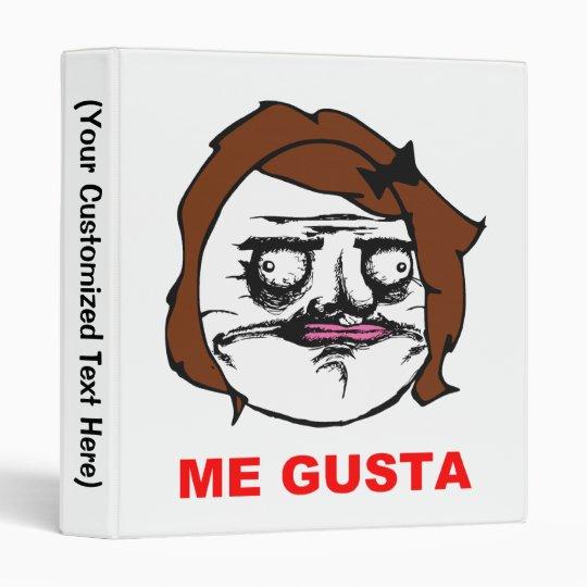 Brown Female Me Gusta Comic Rage Face Meme Binder