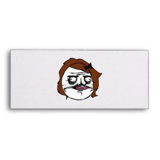 Brown Female Me Gusta Comic Rage Face Meme Envelope
