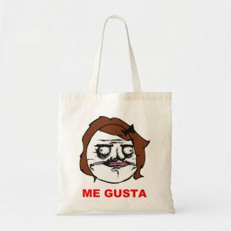 Brown Female Me Gusta Comic Rage Face Meme Tote Bag