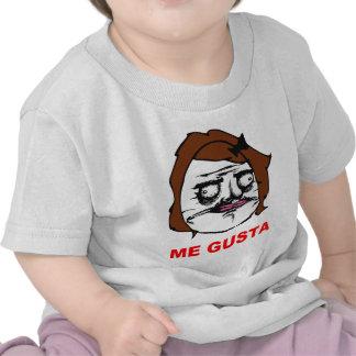 Brown Female Me Gusta Comic Rage Face Meme T-shirts
