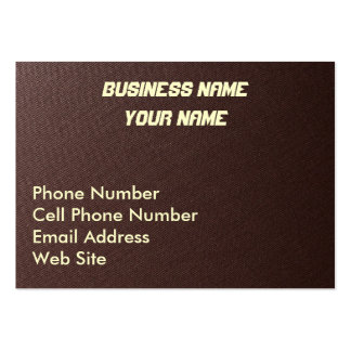 Brown Fibre Fabric Business Cards