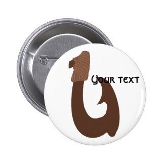 Brown fish hook, Your text  button